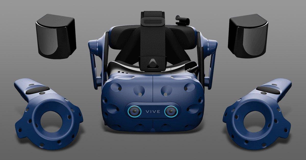 Vive Pro gray virtual reality headset