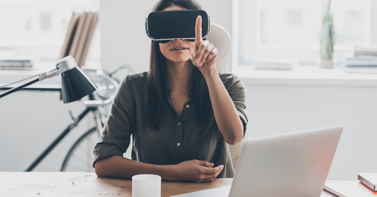 virtual reality use in office